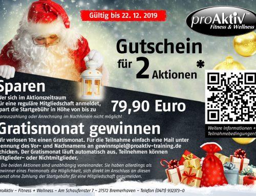 Weihnachtsaktion – Bis zu 79,90 EUR sparen und 10x Freimonat gewinnen