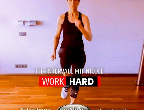 Homeworkout – Work Hard – Fit-Intervall mit Nicole